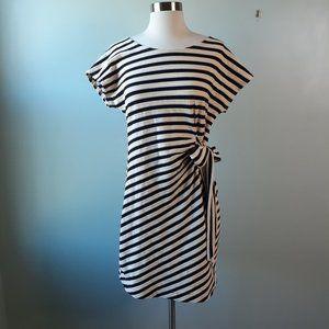 {Saturday Sunday} Striped Yael Side Tie Dress Sz S